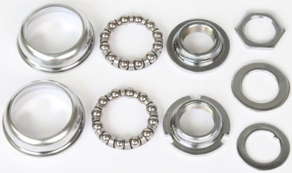 Silver American bottom bracket set bearings cups hardware 1 piece crank 4 bike
